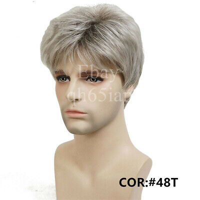 Handsome Uk Mens Full Hair Wigs Men Short Black Straight Layered Cosplay Wig 6 58 Picclick Uk