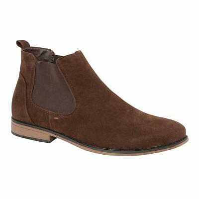 Mens Desert Boots Suede Casual Chelsea Walking Dealer Ankle Smart Fashion Shoes 10