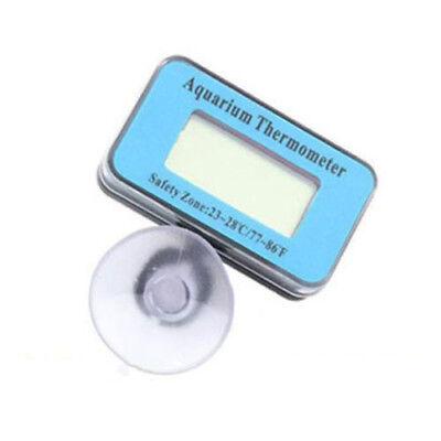 Blue Digital LCD Aquarium Fish Tank Waterproof Temperature Thermometer Meter US 5