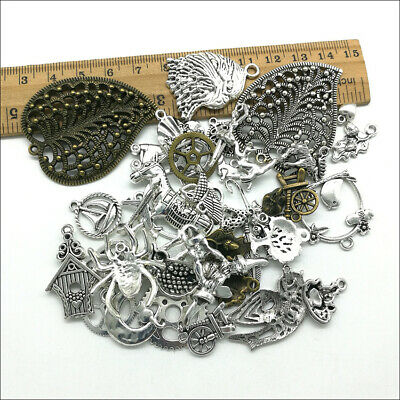 Wholesale Antique Silver Charms Pendants Jewelry Findings Carfts DIY 100+ kinds 4