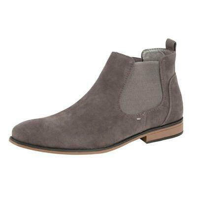 Mens Desert Boots Suede Casual Chelsea Walking Dealer Ankle Smart Fashion Shoes 9