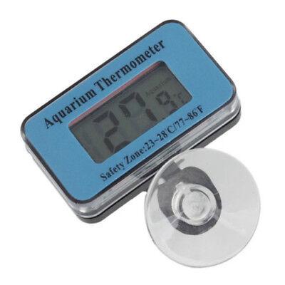 Blue Digital LCD Aquarium Fish Tank Waterproof Temperature Thermometer Meter US 2