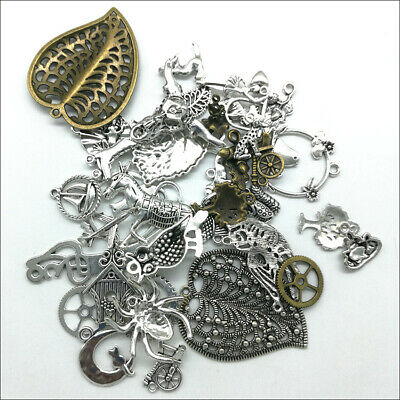 Wholesale Antique Silver Charms Pendants Jewelry Findings Carfts DIY 100+ kinds 3