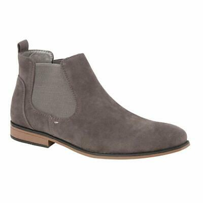 Mens Desert Boots Suede Casual Chelsea Walking Dealer Ankle Smart Fashion Shoes 8