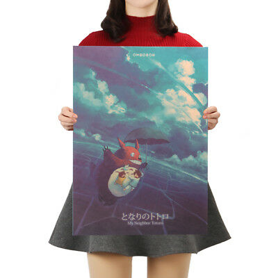 Classic Cartoon Film Spirited Away Style Kraft Paper Poster  Decor Wall Painting