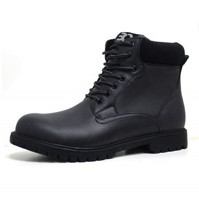 Mens Hiking Boots Walking Ankle Combat Military Army Biker Riding Fashion Shoes 3