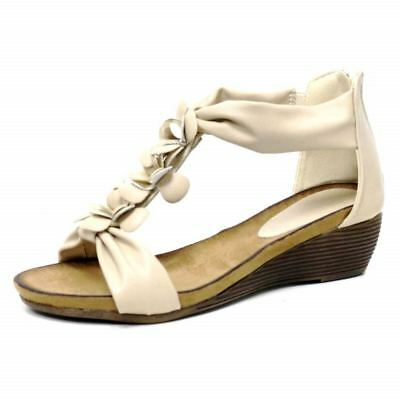 Ladies Wedge Sandals Womens Heels New Fancy Summer Dress Party Beach Shoes Size 11