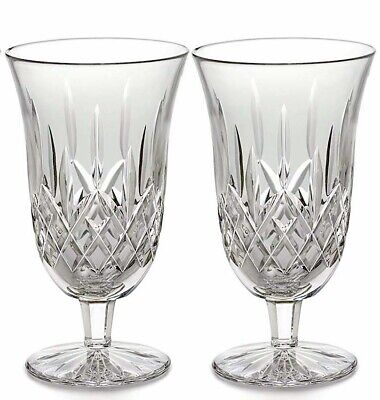 Waterford Lismore Footed Iced Beverage Glasses Set Of 2 New In Box 2