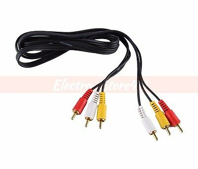 3 RCA Audio Video AV Cable 1.5ft 3ft 6ft 12ft 15ft 25ft Gold Plated 3RCA L+R+V 2