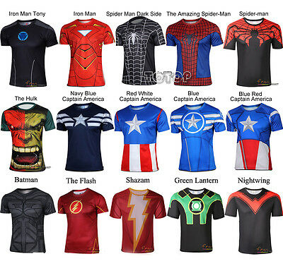 80e848216 ... New Men Marvel Superhero Avengers Costume Top Tee T-Shirts Jersey  Cycling Shirts 5