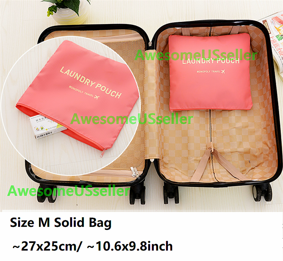 Bags 6PCS Waterproof Clothes Travel Storage Packing Cube Luggage Organizer Pouch 4