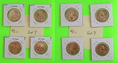 #2s 2018 PD  Pos A&B 4 Coins $1 Native American- Mint Bags 7