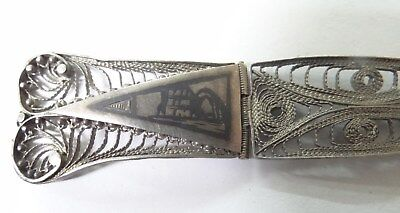 Old Egyptian Silver Filigree With Engraving Scene