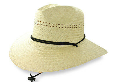 b481025fc89 ... of 7Only 0 available California Lifeguard Straw Palm Fiber Mens Beach  Hat Sun Wide Brim One Size DPC 2
