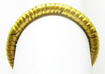 5th - 3rd century B.C. Iron Age Celtic Gold Plated Penannular Finger Ring Size 7 9