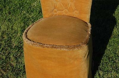 Fab Vintage Retro Bentwood Covered Bedroom Petite Chair Button Backed 4