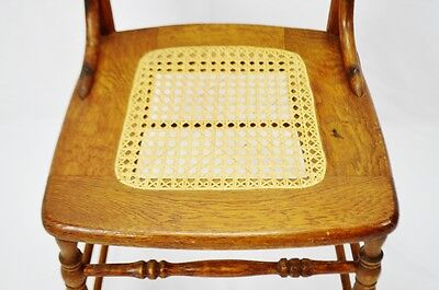Early Oak Cane Seat Splat Back Accent Chair 6