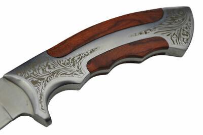 "10"" Elk Ridge Wood Hunting Skinning Survival Fixed Blade Full Tang Knife Bowie 4"
