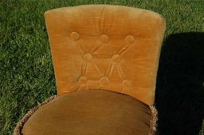 Fab Vintage Retro Bentwood Covered Bedroom Petite Chair Button Backed 3
