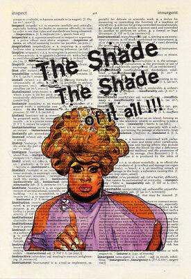 RuPaul Violet Chachki Ooh la la la la. Vintage Dictionary Book Print Wall Art