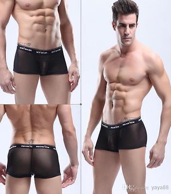 Boxer Transparent Sexy Homme Thong Man Underwear Uomo Lenceria Doorzichtig Mann