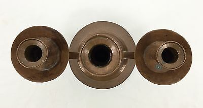 Antique Vtg Hand Hammered Copper 3 Candlestick Holder Candelabra ARTS & CRAFT 8