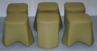 Six Cool Rrp £5280 Boss Design Hoot Leather Stools Modular Contemporary Design 6 2