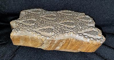 Early 1900's Hand Carved Wood Architectural Plaster Pattern Accent Mold 1 6