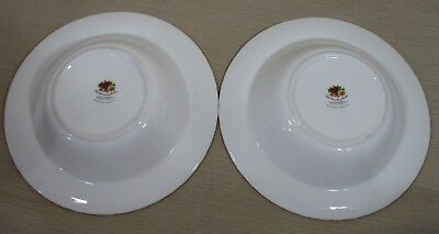 2X Royal Albert Old Country Rose Set 2 Rim Soup Bowls Cereal Bowls Never Use 11