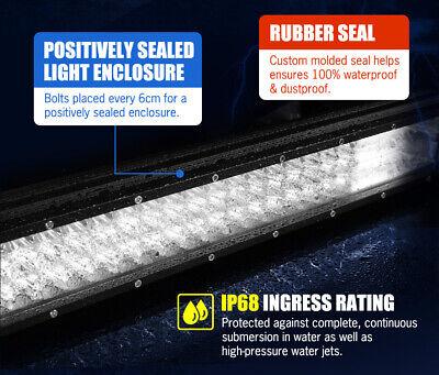 20inch Philips LED Light Bar Spot Flood Work Driving Bar 23'' Number Plate Frame 7