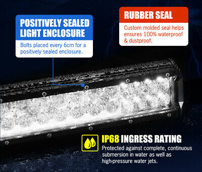 LGHTFOX 23inch Philips LED Light Bar Spot Flood Combo Driving Lamp Offroad 4x4 7