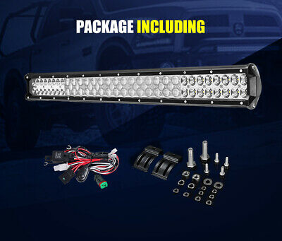 LightFox 26inch LED Light Bar Spot Flood Driving Driving Lamp Offroad 4WD 4X4 12
