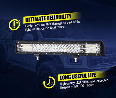 20inch Philips LED Light Bar Spot Flood Work Driving Bar 23'' Number Plate Frame 9