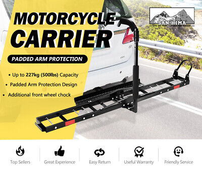 "SAN HIMA Motorcycle Motorbike Carrier Rack 2"" Towbar Arm Rack Bike Ramp Steel 2"