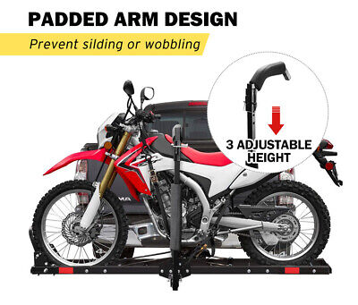 "SAN HIMA Motorcycle Motorbike Carrier Rack 2"" Towbar Arm Rack Bike Ramp Steel 5"