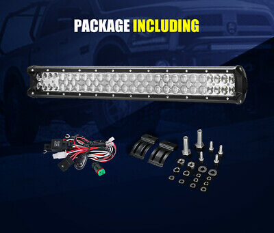 LGHTFOX 23inch Philips LED Light Bar Spot Flood Combo Driving Lamp Offroad 4x4 12