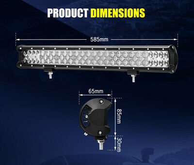 LGHTFOX 23inch Philips LED Light Bar Spot Flood Combo Driving Lamp Offroad 4x4 11