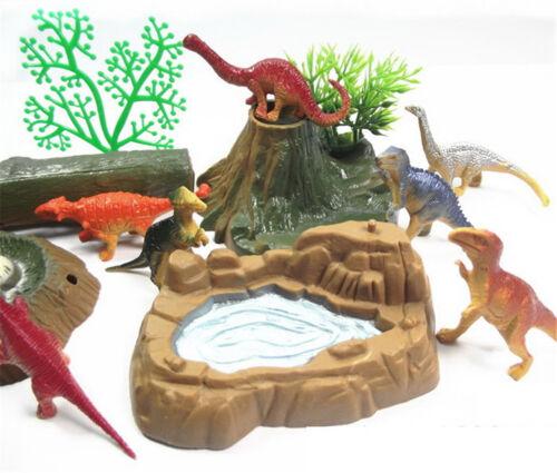 Plastique dinosaure modèle action /& figure Toy Kids table de sable paysage 9H