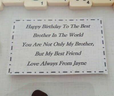 Brother Birthday Gift Personalised Picture Frame Scrabble Letters