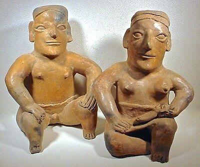 Pre-Columbian Jalisco Couple & Baby Ex Sothebys 11