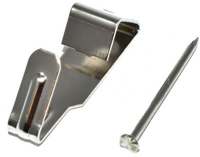 SINGLE PICTURE HOOKS No.1 NICKEL PLATED AND HARD PINS FRAMING HANGING HANGER 2
