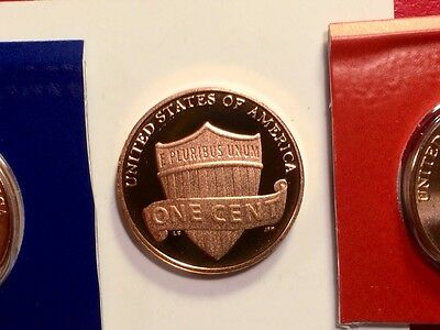 2013 S Lincoln Shield Cent Gem Deep Cameo Proof Penny With 2013-P & 2013-D Mint 11