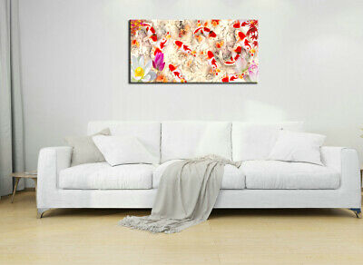 Wall Art Home Decor HD print oil painting on Canvas Feng Shui Fish Koi Painting 2