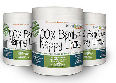 250 x Bamboo Flushable Nappy Liners/Inserts Nappy Cloth, Baby Diaper liners 2