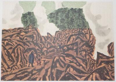 UNZEN HOT SPRINGS : By KAZUO TAKADA, Japanese Shin-Hanga Print, C1960s 2