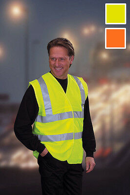 Personalised Hi Viz High Vis Safety Vest, Waistcoat - Any Logo, Image, Text