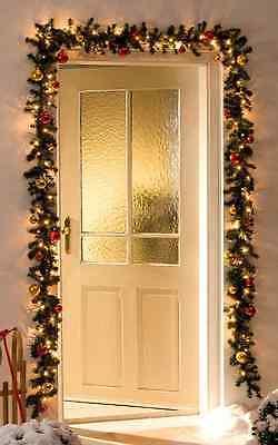 led tannengirlande beleuchtet 5m mit 36 kugeln rot gold. Black Bedroom Furniture Sets. Home Design Ideas