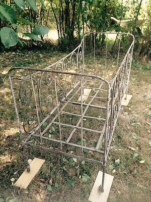Antique French Wrought Iron Cot 2