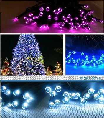 50 100 200 LED Solar Power Fairy Lights String Garden Outdoor Party Wedding Xmas 4