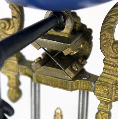 Beautiful Ansonia Cut 8 Day Movement Brass Huntress Lady Mystery Swinger Clock 6